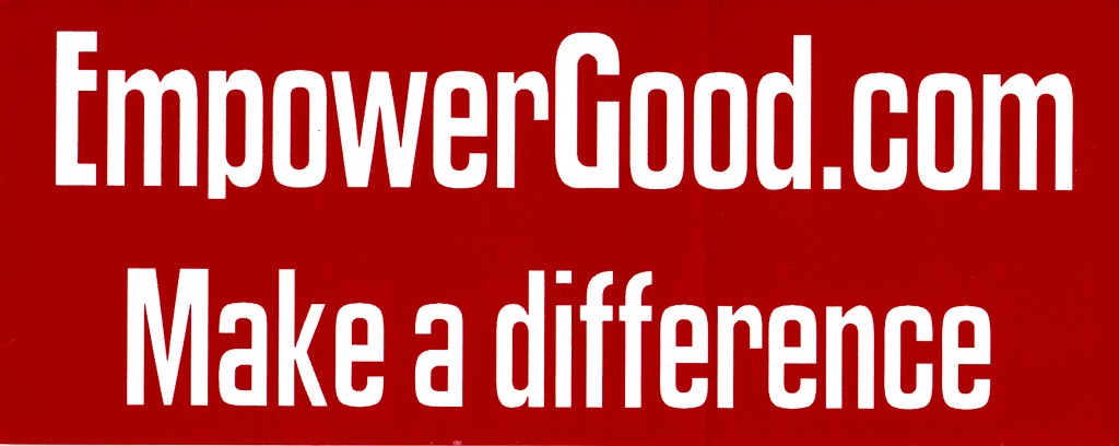 empower good bumper sticker