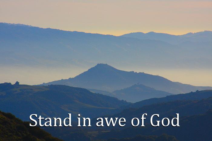 18 21 22 awe of God
